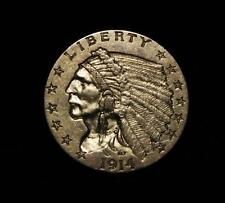 1914-D $2 1/2 Gold Indian Select CHOICE PQ
