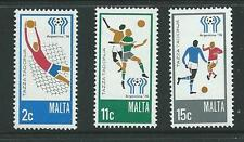 MALTA SG601/3 1978 WORLD CUP FOOTBALL MNH