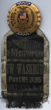 GAR PORT ANN, NEW YORK~ LOW WASHBURN POST #335 BADGE