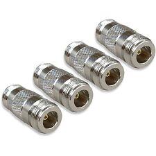NEW 4 pack N female to female coaxial RF adapters couplers