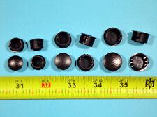 "ASSORTED Black Nylon HOLE PLUGS 1/2"", 9/16"", 5/8"" Locking Rigid push plug 12pcs"