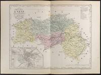 1853 - Mapa Antigua Del Departamento De Decorado, Por Cover