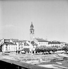 SUISSE c. 1949 - Maisons Église Lac Majeur Locarno - Négatif 6 x 6 - Sui 171