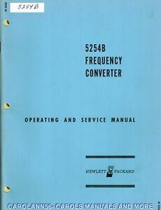 HP Manual 5254B FREQUENCY CONVERTER