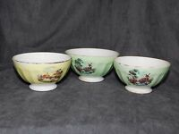 3 BOLS ANCIENS  FAIENCE COTELEE  DECO RETRO VINTAGE KITCH COLLECTION