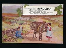 Ireland Co Donegal BUNDORAN Pocket Novelty c1900/10s? PPC