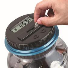 Digitale Münzzähler Piggy Bank Jar Saver Geldzählen Elektronische LCD Bildschirm