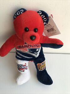 New England Patriots 2x Super Bowl Champion SB 36 And 38 Limited Edition Bear