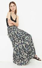 IRO AMITA FLORAL PRINTED VOILE RED MAXI SKIRT FR 34 UK 6/8