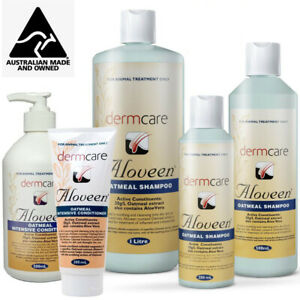 Dermcare Oatmeal Aloveen Shampoo Conditioner Dogs Cats Sensitive Skin Aloe Vera