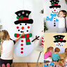 DIY Felt Christmas Snowman Game Set Detachable Ornament Xmas Wall Hanging Decor