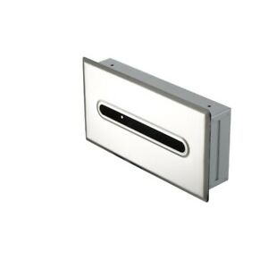 Tissue Box Cover Recessed  in Stainless Steel by Geesa GS.GE-123-C/P
