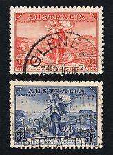 Aus 1936 2d & 3d  COMMUNICATION TO TASMANIA Pair Sc# 157   158 - VF LH Used