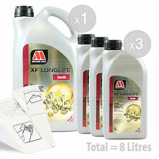Car Engine Oil Service Kit / Pack 8 LITRES Millers XF Longlife 5w-30 8L