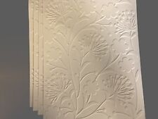 STAMPIN' UP+ (4)  PUFF FLOWER. EMBOSSED CARDFRONT, BACKGROUND, CARD TOPPER