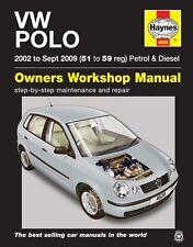 4608 Haynes VW Polo Gasolina & Diesel (2002 de 51 a 59 de septiembre 2009) Manual de taller