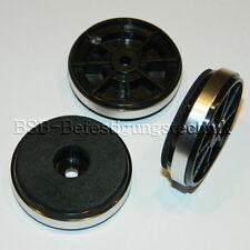 4x runde Hifi Gerätefüße  Ø 40x11mm Silber NEU Gehäusefüße  Gummifüße Case Feet