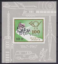 """Ungarn 1967 - Mi. Block 60B """"100 Jahre ungarische Post"""" postfrisch"""