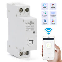 APP WiFi Circuit Breaker 18mm Din Rail Main Switch RC Smart Circuit eWeLink 1P