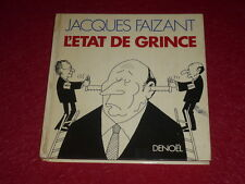 [DESSIN HUMOUR BD POLITIQUE] JACQUES FAIZANT/ L'ETAT DE GRINCE... 1982 Signé!