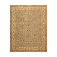 "8'2"" x 9'10"" Hand Knotted Wool Agra Traditional 150 KPSI Oriental Area Rug Gray"