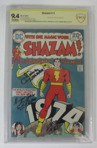 CBCS Graded 9.4 NM,  Shazam! No. 11,  3/1974, Signed 3 TV Series Cast Members