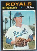 1971 Topps #564 Al Fitzmorris Mid Grade KC Royals JVB
