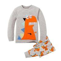 Boy Pajamas Suit Cartoon Dinosaur pijamas Toddler Shirt Pant Children Clothes