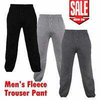 Mens Fleece Joggers/Sweat Pants  Pockets Gym Trousers S-2XL