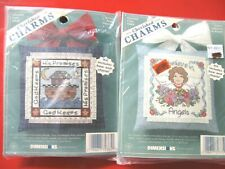 2 Dimensions Cherished Charms Counted Cross Stitch Kit*NOS*1997*GOD & ANGELS