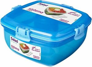 Sistema Salad to Go Container Klip It Food Lunch Box 37.1 oz - Select a Color