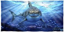 Dawhud Direct Great White Shark Super Soft Cotton Beach Bath Pool Towel