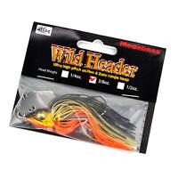 MEGABASS Wild Header Vibrating Blade Weedless Flat Head Jig Lure 3/8oz GOLD SHAD