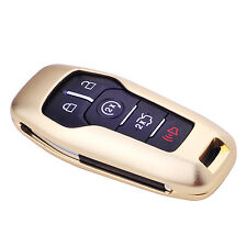For Ford EXPLORER Aluminium Remote Key Golden Cover Case Fob Shell for Car Alarm