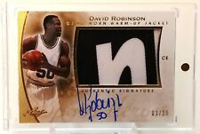 DAVID ROBINSON-2014 Leaf Q GOLD (#3/25) 2-COLOR JACKET/AUTO/AUTOGRAPH-RARE