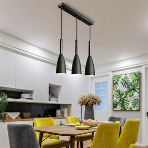 Black Chandelier Lighting Kitchen Pendant Light Bar Lamp Home Wood Ceiling Light
