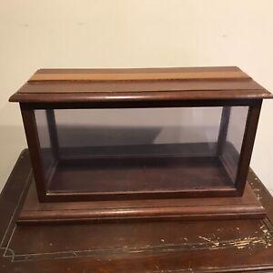 Mahogany display case