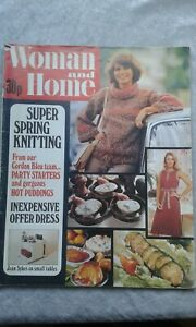 Woman & Home Magazine February 1977 Crafts, Recipes, Articles, Adverts