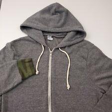 Alternative Apparel Full Zip Hoodie Sweatshirt Mens Size Large Gray & Camouflage