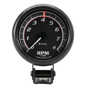 """Equus Tachometer Gauge 6086; 6000 Series 0 to 8000 RPM 2-1/2"""" Electric"""