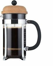 Chambord French Press Coffee Maker, 34 oz (8 cup) Black/Silver with Cork Lid