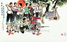 Old Print. China. Propaganda - China's Daughter's Have High-aspiring Minds
