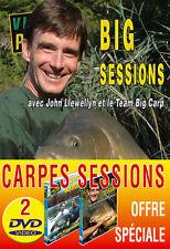 Lot 2 DVD Vidéo Pêche Carpe Session