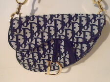 AUTH CHRISTIAN DIOR LOGO TROTTER SADDLE SHOULDER BAG B&W  PARIS #4300 C.1980,s