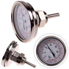 """1/2"""" NPT Stainless Steel Thermometer Kitchen Moonshine Still Condenser Brew Pot"""