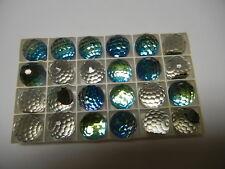 4 swarovski crystal 3/4 flatback disco balls,18mm bermuda blue #4861