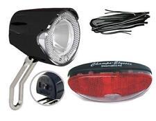 LED Scheinwerfer 20 Lux SET Rücklicht Standlichtautomatik, Kabel für Nabendynamo