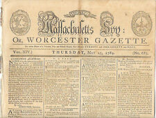 Thomas Massachusetts Spy May 27, 1784 Paul Revere Masthead Constitution