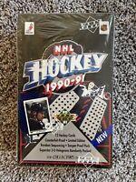 1990-91 Upper Deck NHL Hockey Factory Sealed Wax Box
