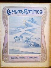 ANTIGUA REVISTA AÑO 1904 MUNDO CIENTIFICO,SORPRENDENTES NOTICIAS,PUBLICIDAD.224